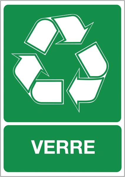 Autocollant pour Tri sélectif des déchets - Verre