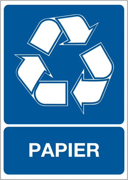 Panneau A4 en polyester laminé Tri sélectif des déchets - Papier