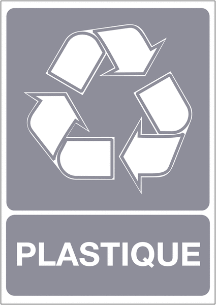 Panneau A4 en polyester laminé Tri sélectif des déchets - Plastique