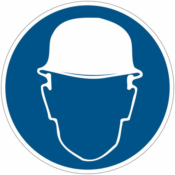 Panneaux autocollants Quick-Fix Casque de protection obligatoire