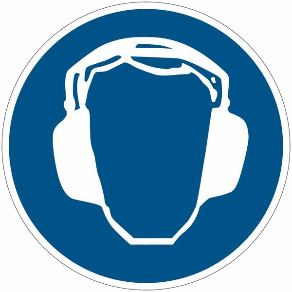 Panneaux autocollants Quick-Fix Serre-tête antibruit obligatoire