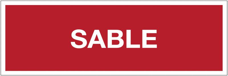 Panneaux de sécurité incendie avec texte - Sable