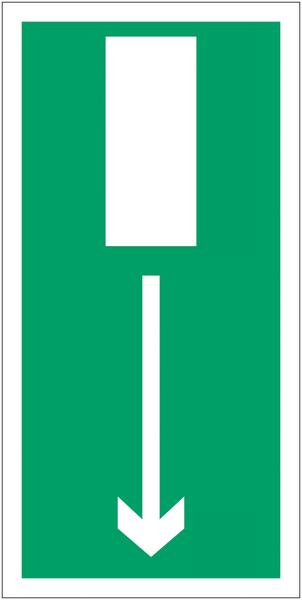 Panneaux d'évacuation haute résistance Issue de secours, flèche en bas