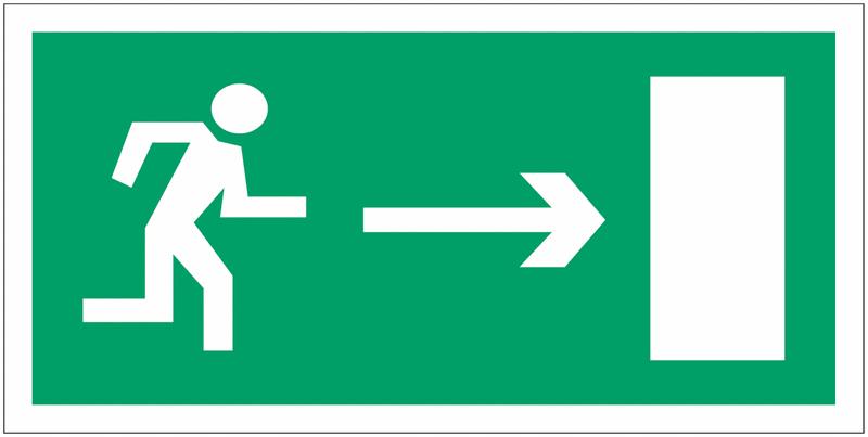 Panneaux d'évacuation haute résistance Homme qui court, flèche à droite