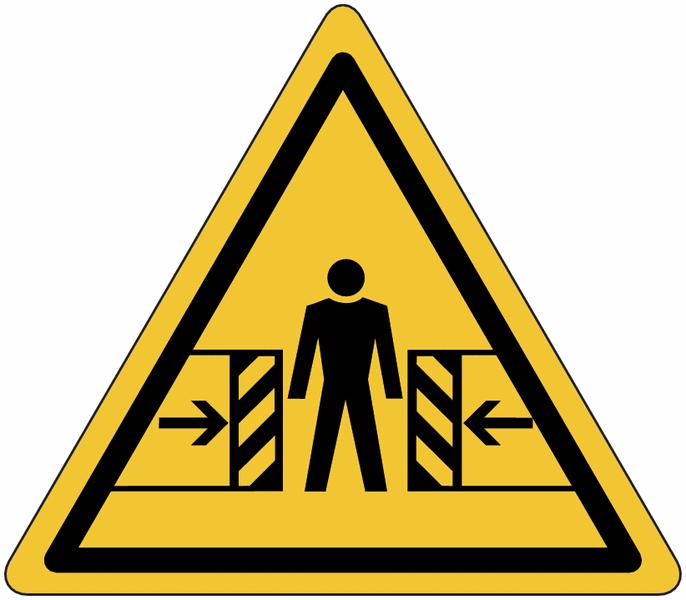 Planches d'autocollants de danger Ecrasement