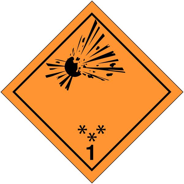 Signalisation de transport international Matières et objets explosifs