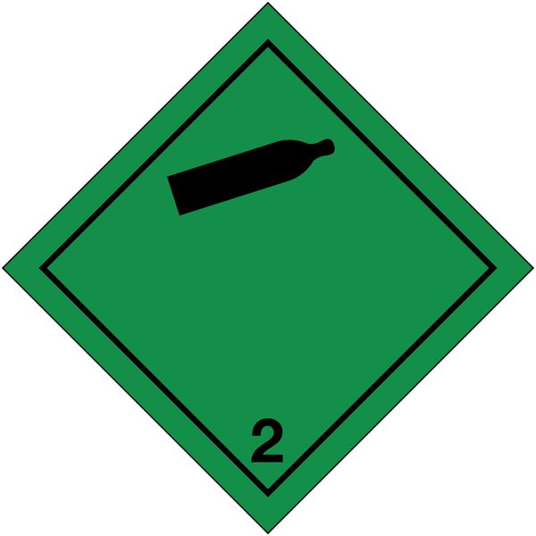 Signalisation de transport international Gaz non-inflammables et non-toxiques