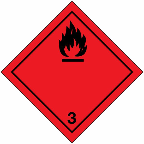 Signalisation de transport international Liquides inflammables