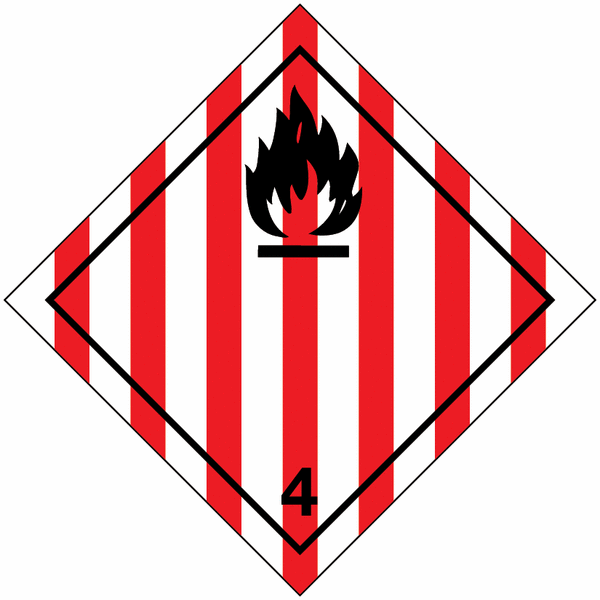 Signalisation de transport international Solide inflammable