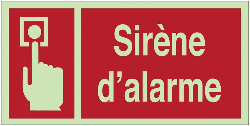 Panneaux d'incendie photoluminescents Point d'alarme incendie avec texte