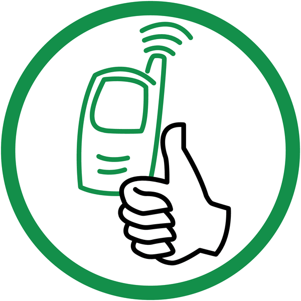 Signalisation de courtoisie Téléphone autorisé