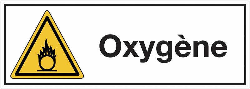 Signalisation suspendue produits dangereux Danger matières comburantes - Oxygène