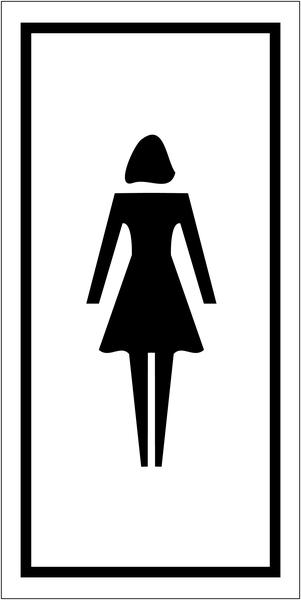 Pictogrammes d'information standards Toilettes femme