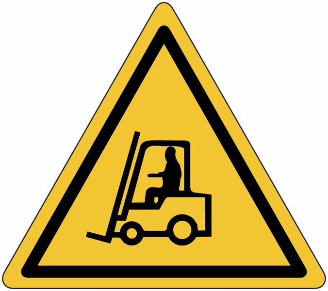 Panneau en aluminium réfléchissant Danger, chariots élévateurs