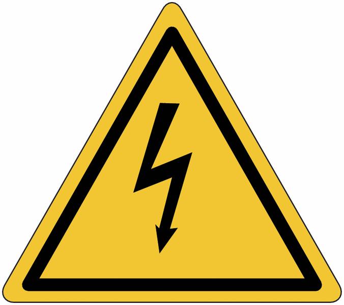 Panneau de signalisation réfléchissant Danger électricité