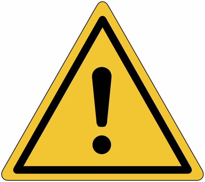 Panneau en aluminium réfléchissant Danger général