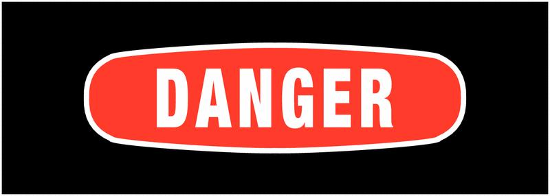Panneaux de signalisation avec message - Danger