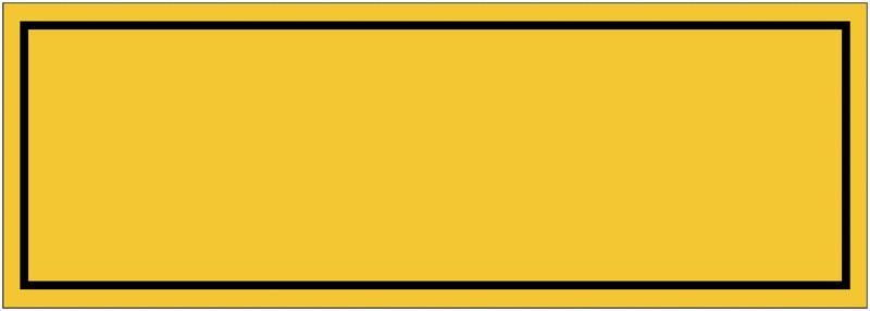 Panneaux de danger vierge