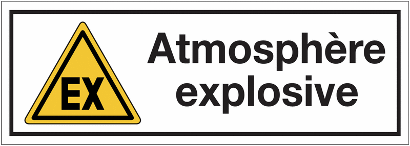 Panneaux de danger rectangulaires - Atmosphère explosive