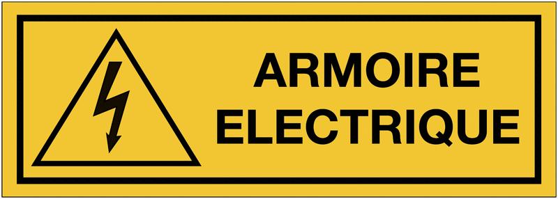 Panneaux de danger électrique rectangulaires - Armoire électrique