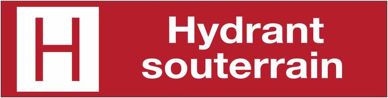 Panneaux de sécurité et incendie rectangulaire - Hydrant souterrain