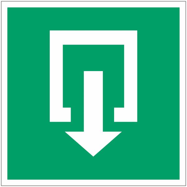 Mini-pictogrammes d'évacuation Sortie de secours en rouleau