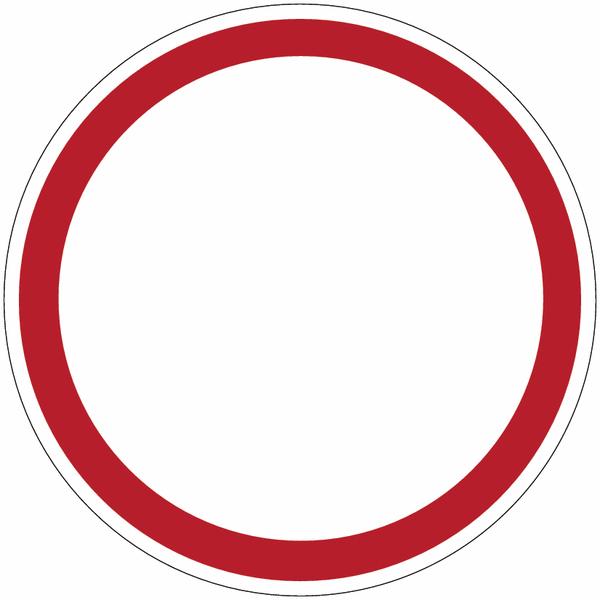 Mini-pictogrammes d'interdiction Circulation interdite à tout véhicule dans les deux sens en rouleau
