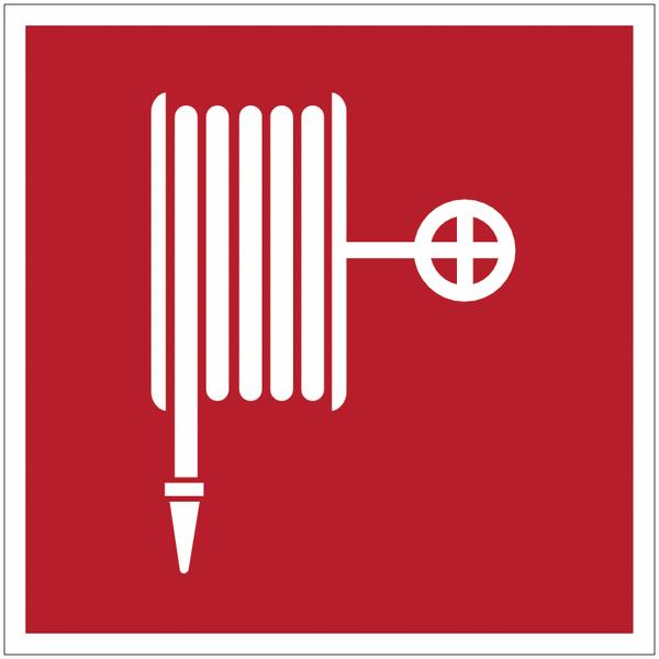 Mini-pictogrammes d'incendie Robinet d'incendie armé en rouleau