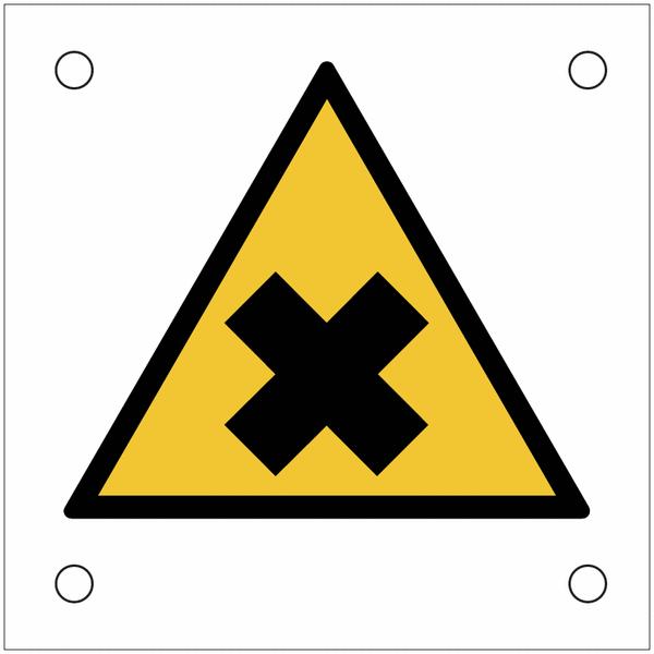 Plaques de signalisation pour machines Matières nocives ou irritantes