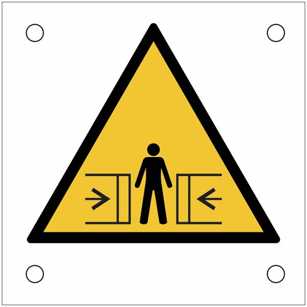 Plaques de signalisation pour machines Danger, écrasement