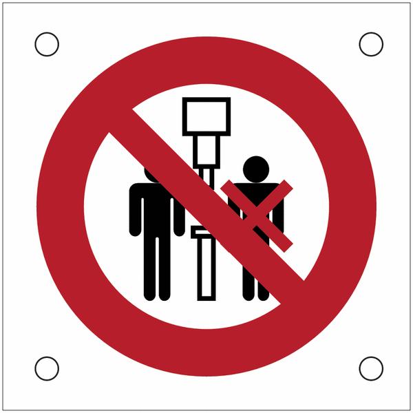 Plaques de signalisation pour machines Interdiction de travailler à deux sur la machine