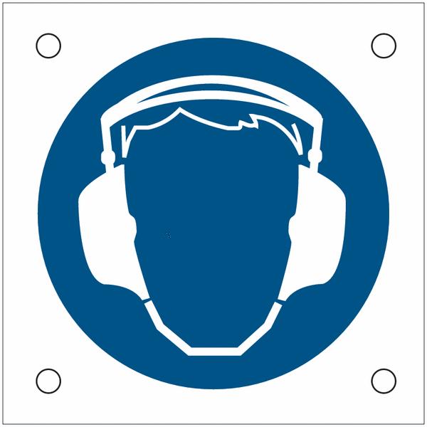 Plaques de signalisation pour machines Serre-tête antibruit obligatoire