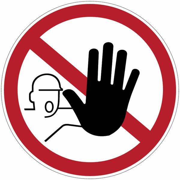 Etiquettes de signalisation pour machines - Accès interdit