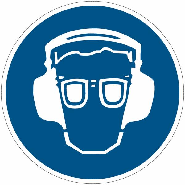 Etiquettes de signalisation pour machines - Proctection auditive et oculaire
