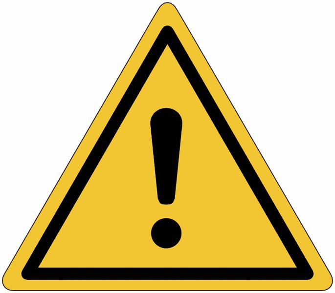 Etiquettes de signalisation pour machines - Danger général
