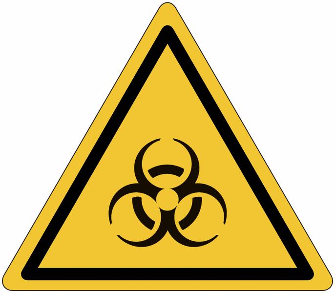 Etiquettes de signalisation pour machines - Risque biologique