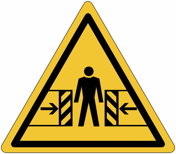 Etiquettes de signalisation pour machines - Danger d'écrasement