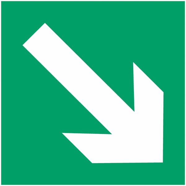 Pictogramme prestige sur aluminium Flèche directionnelle 45°