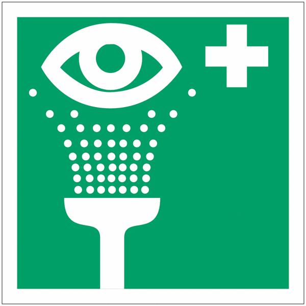 Mini autocollants d'urgence Equipement de rinçage des yeux