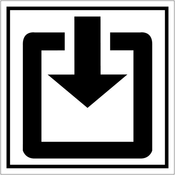 Mini autocollants d'information Entrée
