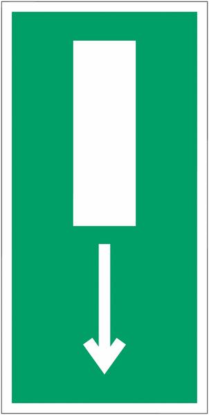 Mini autocollants d'évacuation Issue de secours, flèche directionnelle en bas ou en haut