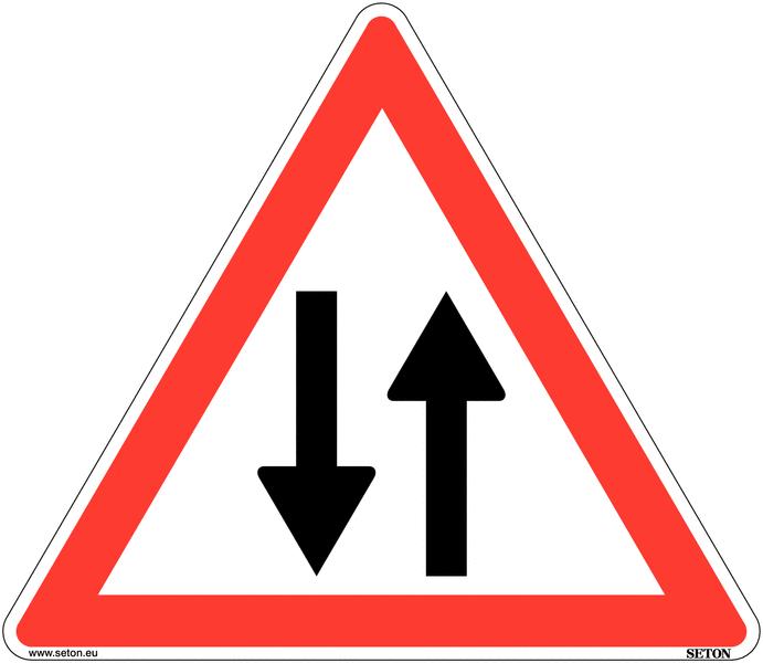 Panneau de circulation en PVC Circulation dans les deux sens