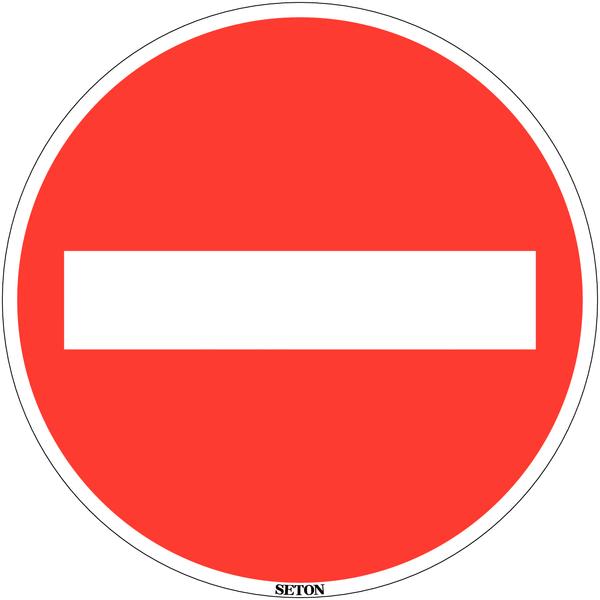 Panneau de circulation en PVC Sens interdit