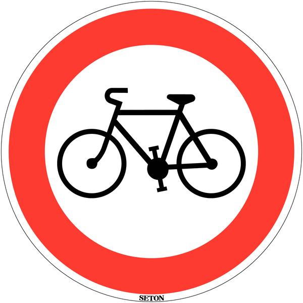 Panneau de circulation en PVC Accès interdit aux cycles