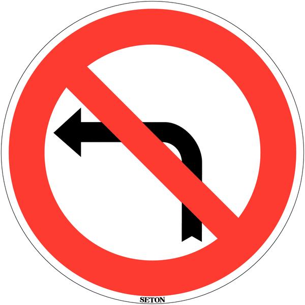 Panneau de circulation en PVC Interdiction de tourner à gauche à la prochaine intersection