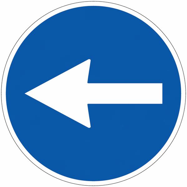 Panneau de circulation en PVC Flèche directionnelle orientable
