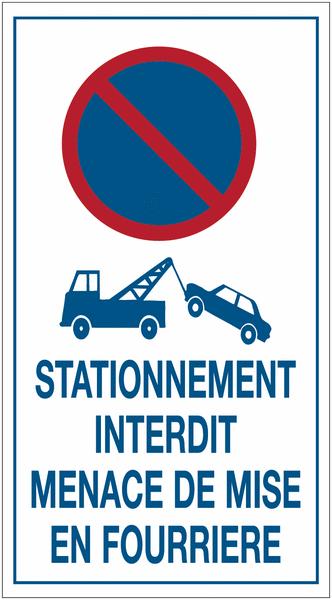 Autocollants dissuasifs Stationnement interdit - Mise en fourrière