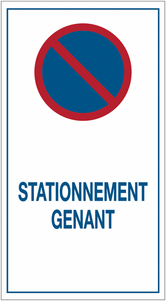 Autocollants dissuasifs Stationnement interdit - gênant