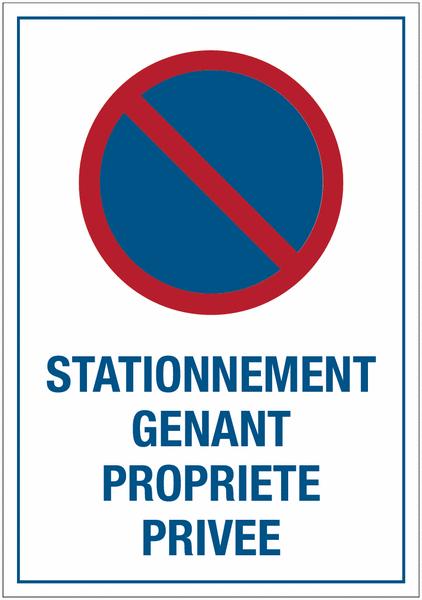 Autocollants dissuasifs Stationnement interdit - Propriété privée