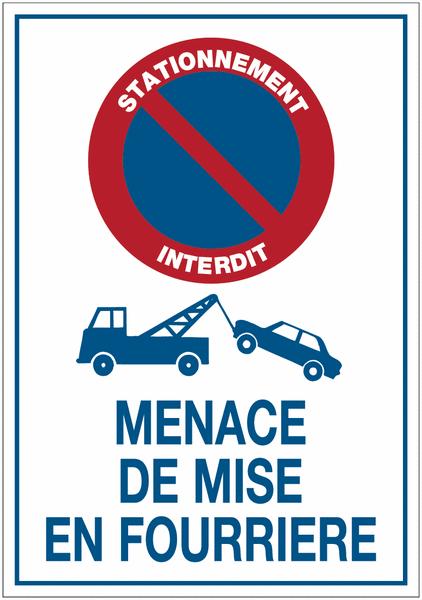 Autocollants dissuasifs en carnet Stationnement interdit - Mise en fourrière